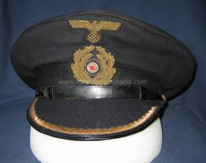 5ed87110889 This is a very nice WWII German army EM NCO M43 cap. This is a cool hat  because it is an M42 overseas cap that was converted to am M43 during the  war.