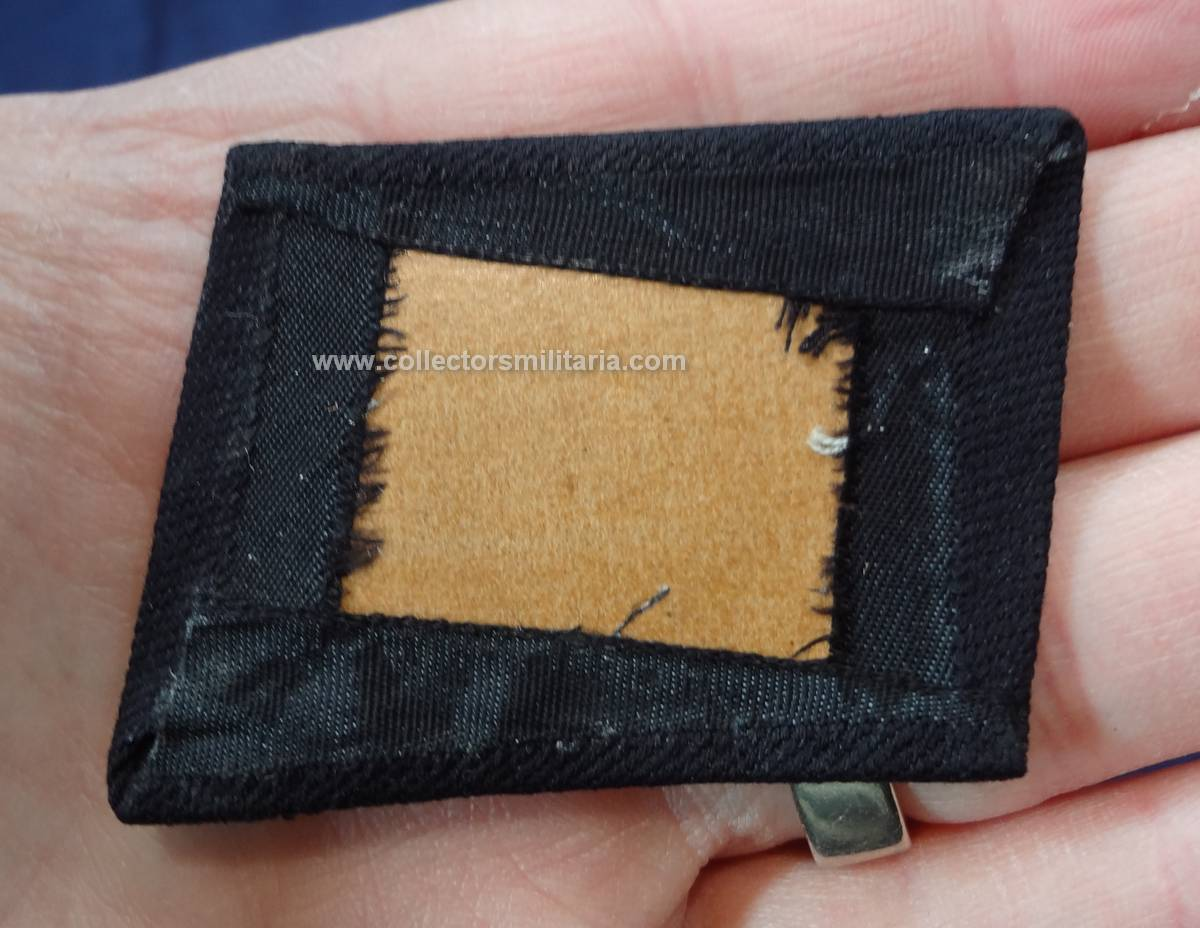 A Unissued Bevo SS Runic Collar Tabs With Cardboard Backing