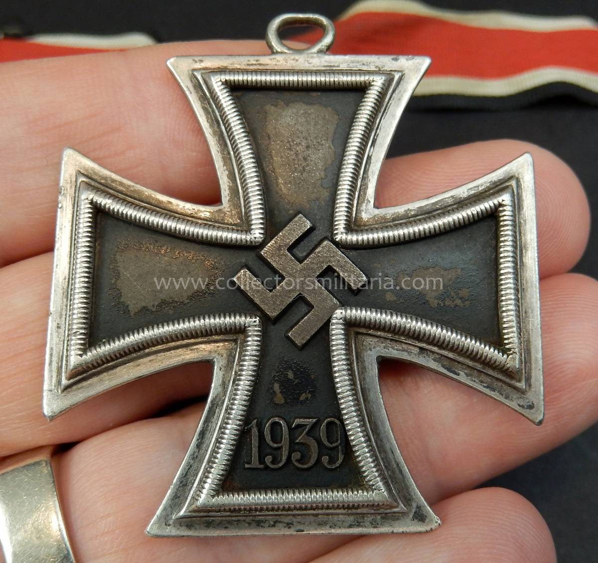 A Rare Early Worn L/12 C  E  Junker Knights Cross Of The