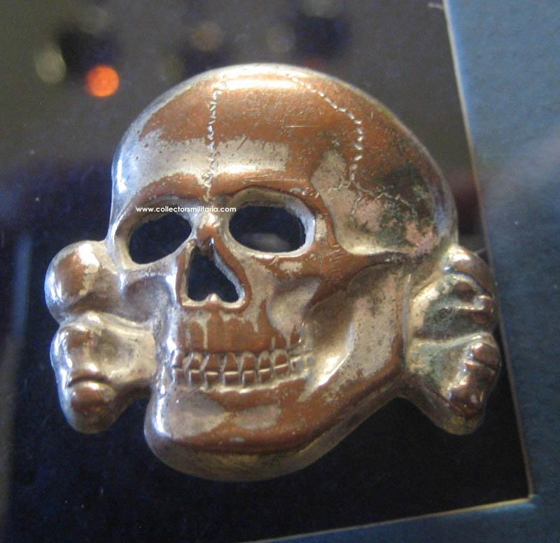 A Nice Original Ss Visor Skull By Deschler